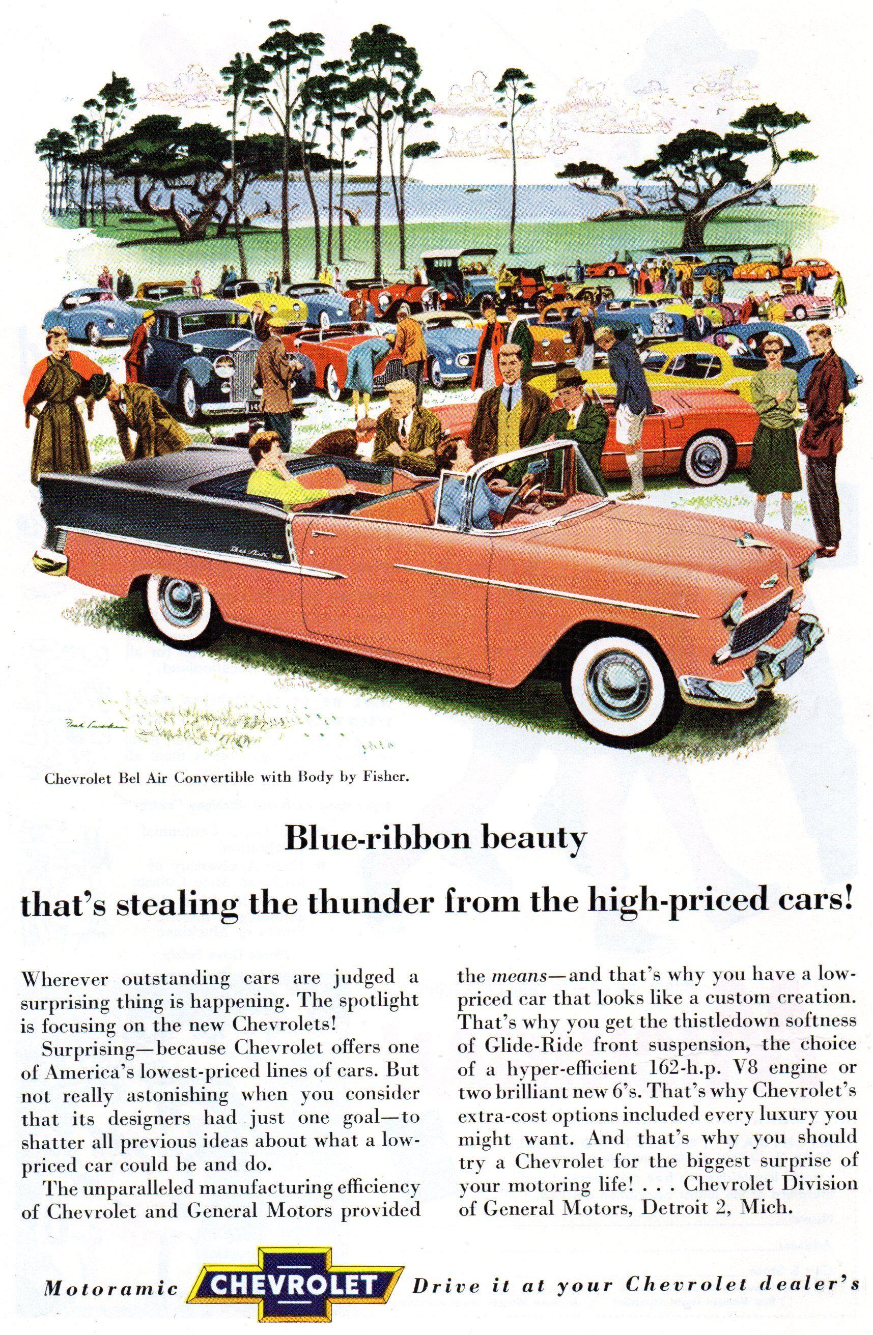1955 Chevy Ad Car ads, Retro cars, 1955 chevy