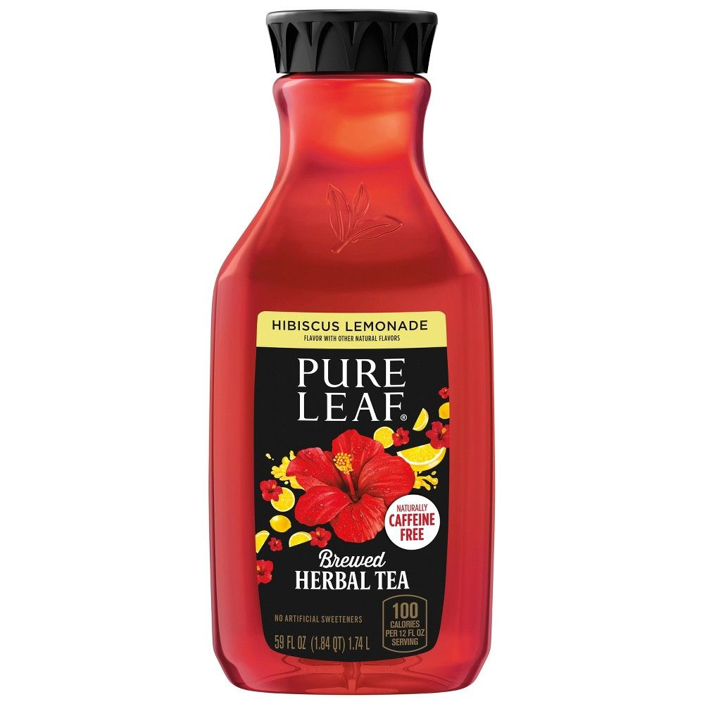 Pure Leaf Hibiscus Lemonade Herbal Tea 59 Fl Oz Tea Pure Products Herbalism