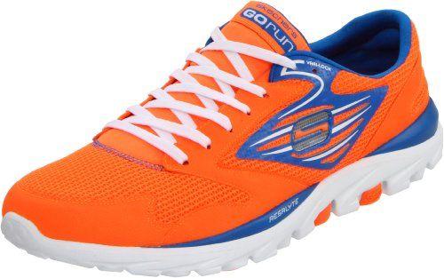 Men's SKECHERS GO Run #orange #sneakers | Mens skechers