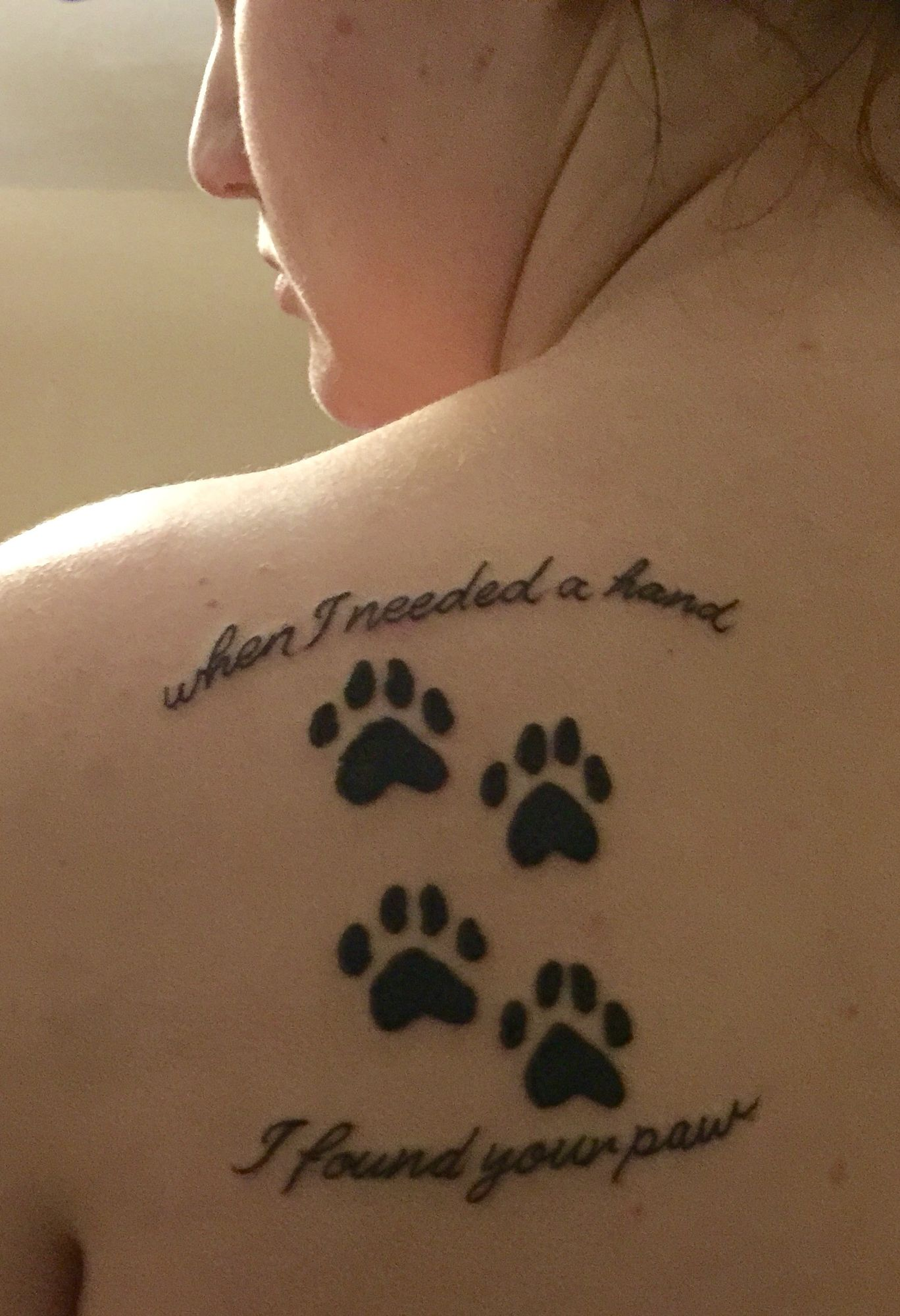 56e875423d54b Memorial of pet(s) Tattoos Of Dogs, Dog Paw Tattoos, Dog Pawprint