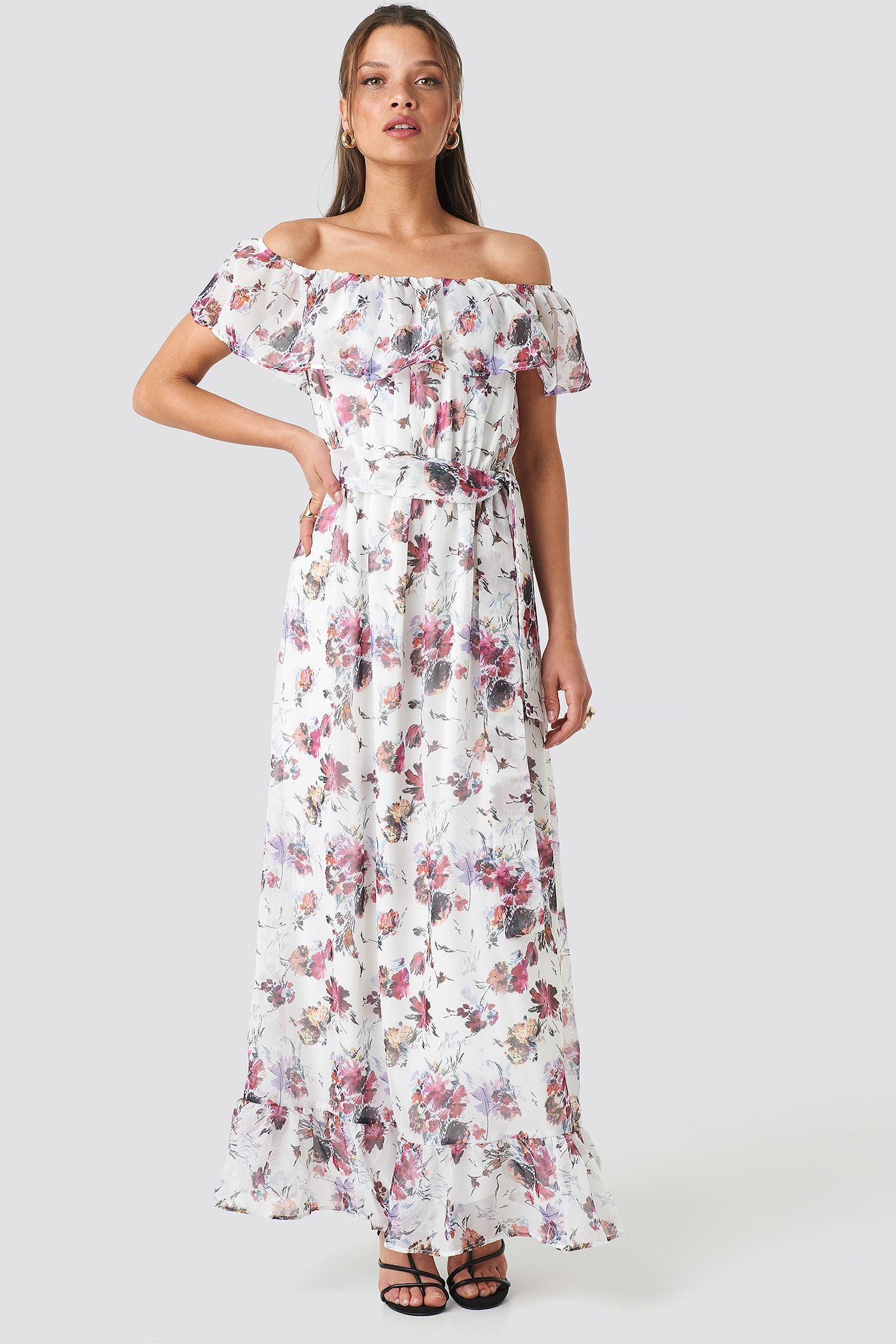 Carmen Flower Maxi Dress in 12  Maxi kleider, Weißes kleid