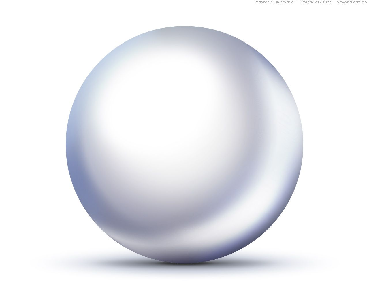 Psd Shiny White Pearl Icon Psdgraphics Pearl White Pearls Blue And White
