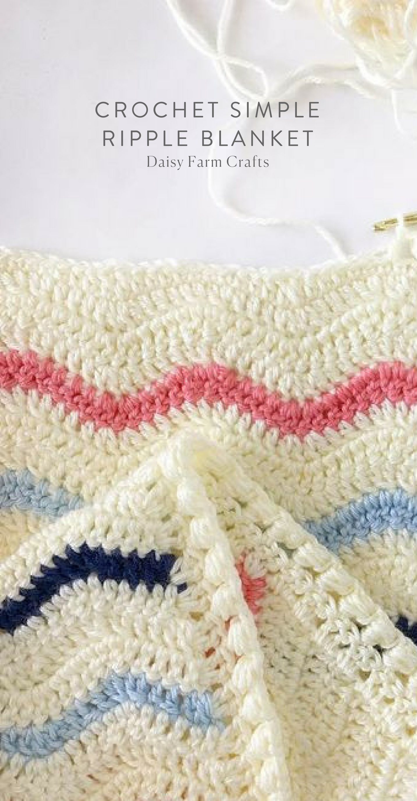 Free Pattern - Crochet Simple Ripple Blanket | Crochet | Pinterest ...