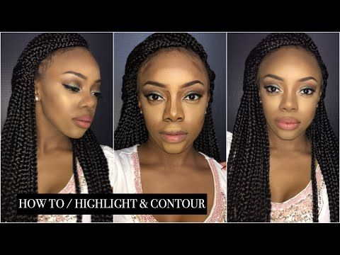 HOW TO: Highlight & Contour using NYX Conceal, Correct, Contour Palette - YouTube