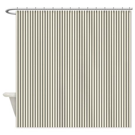 Black Ticking Shower Curtain By Clarisse Striped Shower Curtains