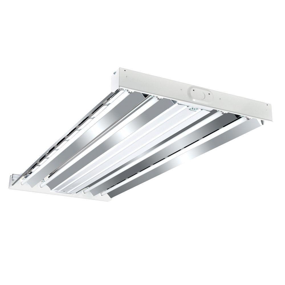 Metalux 4 Ft 4 Lamp White T8 Fluorescent Industrial Grade High Bay Light Fixture Hbl432rt2 Bay Lights Light Fixtures Commercial Lighting