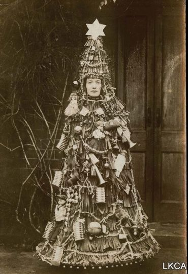 vintage everyday: Vintage Pictures of Weird Female Costumes That Make You Can't Help Laughing