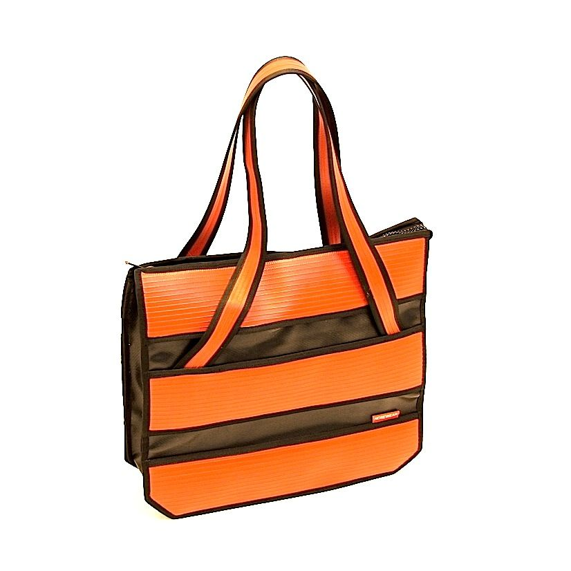Brave tote bag - made from up-cycled fire hoses