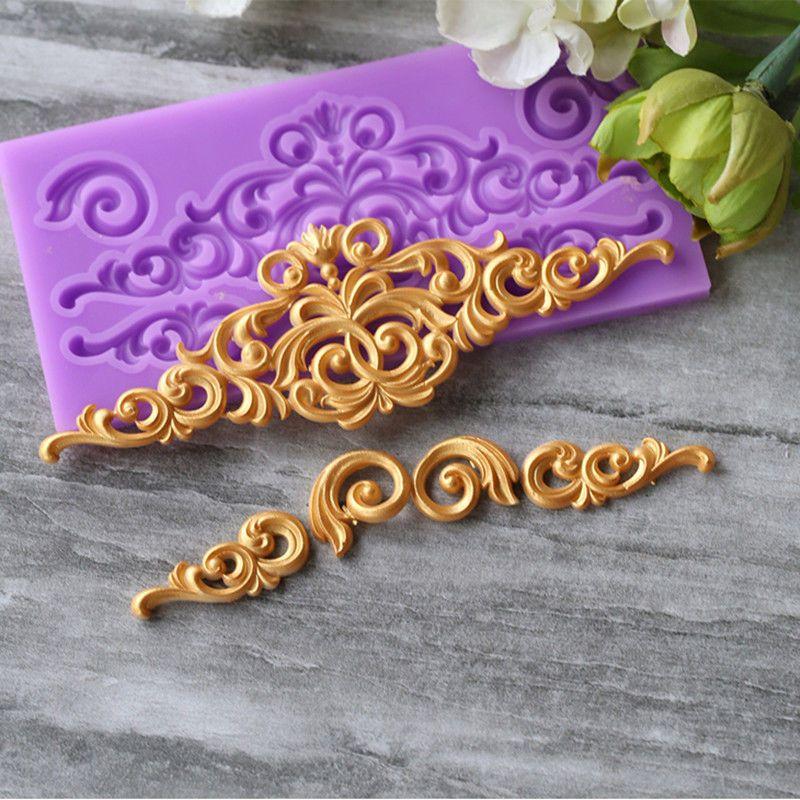 3D Relief Flower Silicone Fondant Mold Cake Border Decoration Sugar Paste Mould