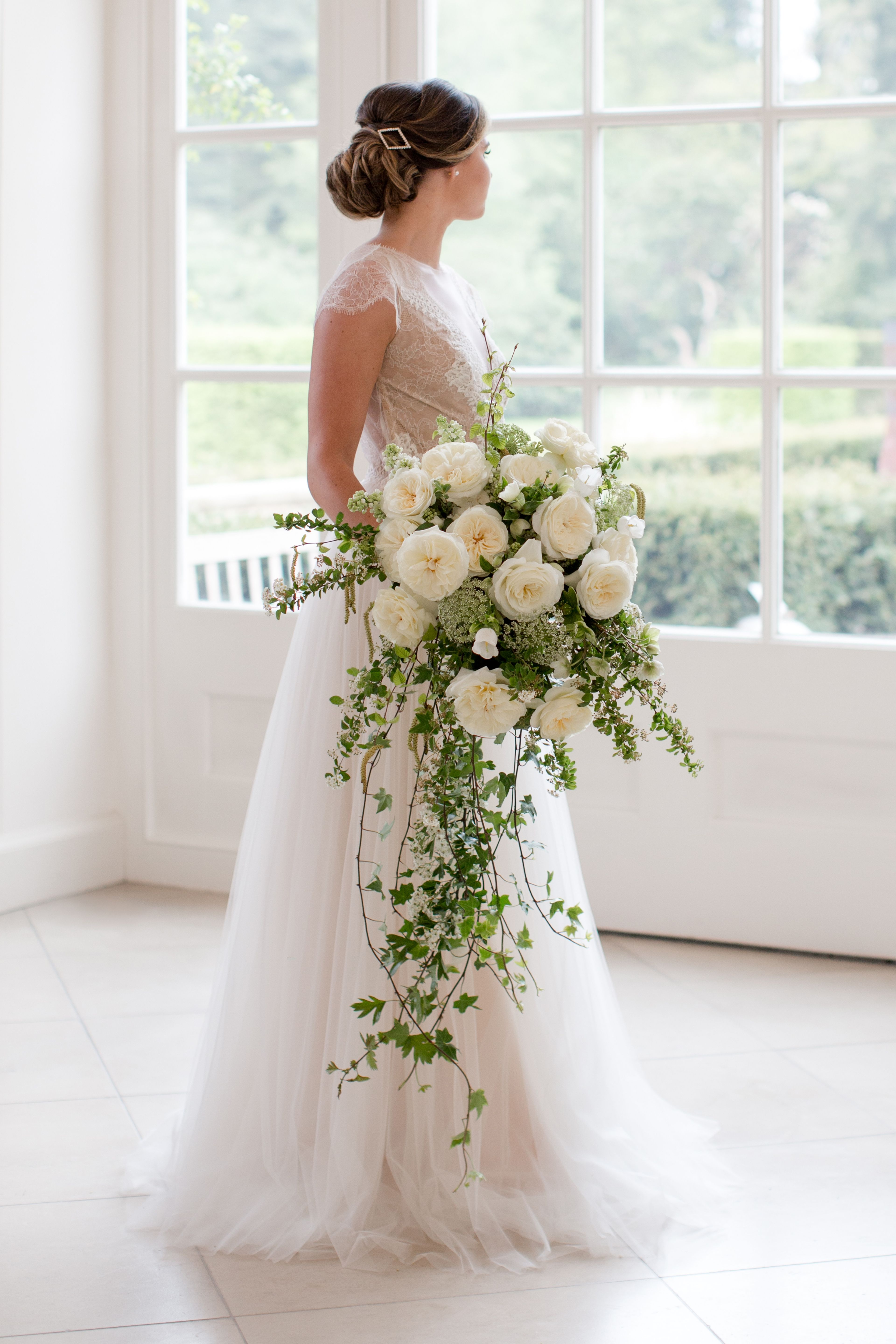 White Rose Bridal Bouquet Featuring Ella Variety Rose From David