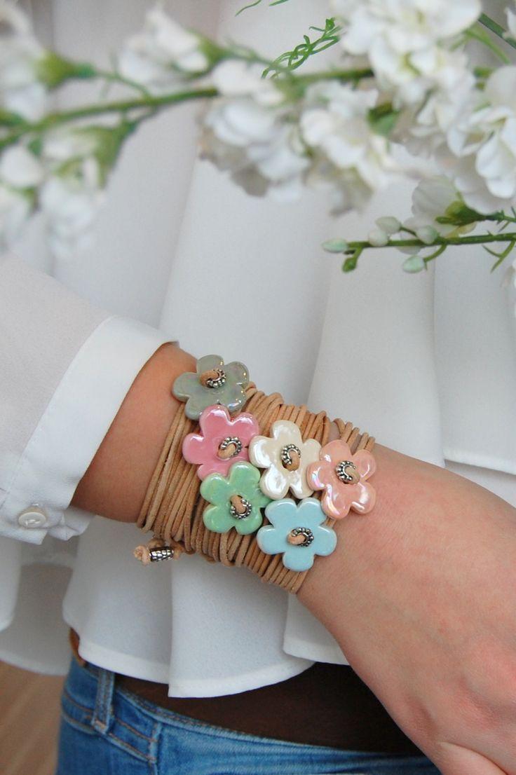 Armbänder Blume / Herz #ceramicart