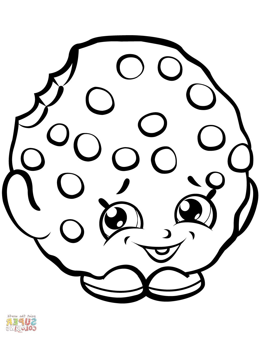 Super Coloring Bl5t Kooky Cookie Shopkin Coloring Page Free