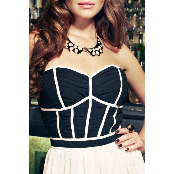 Black Epoxy Collar Necklace | Little-Mistress ($23) ❤ liked on Polyvore