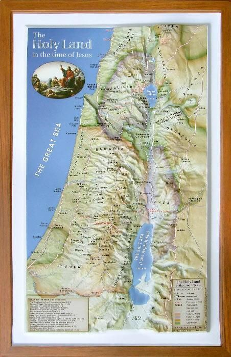 Map Of Israel For Kids