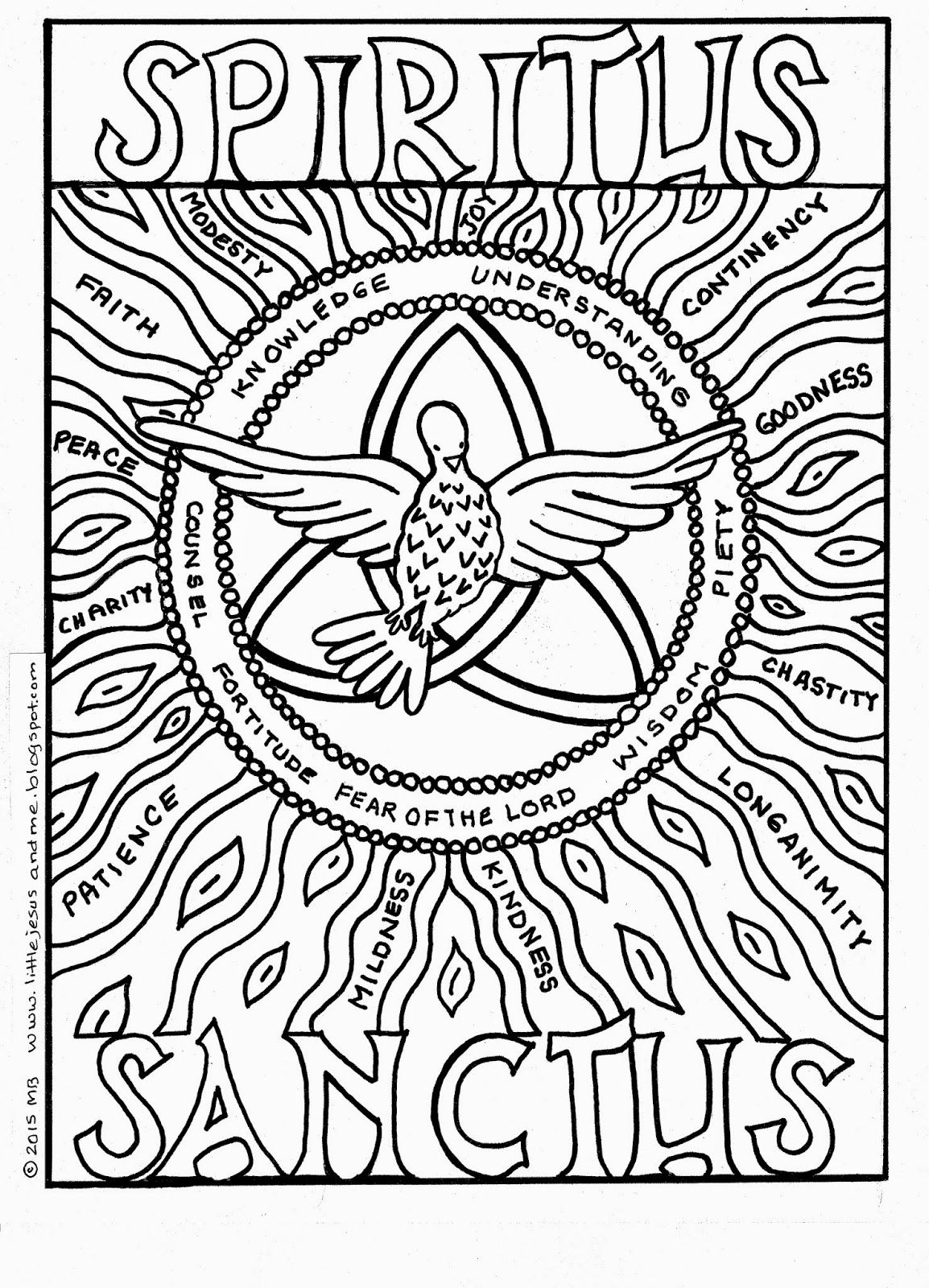 Pentecost Coloring Page | Coloring Pages | Pinterest | Holy spirit ...