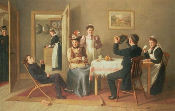 High Life Below Stairs, 1897 by Charles Hunt