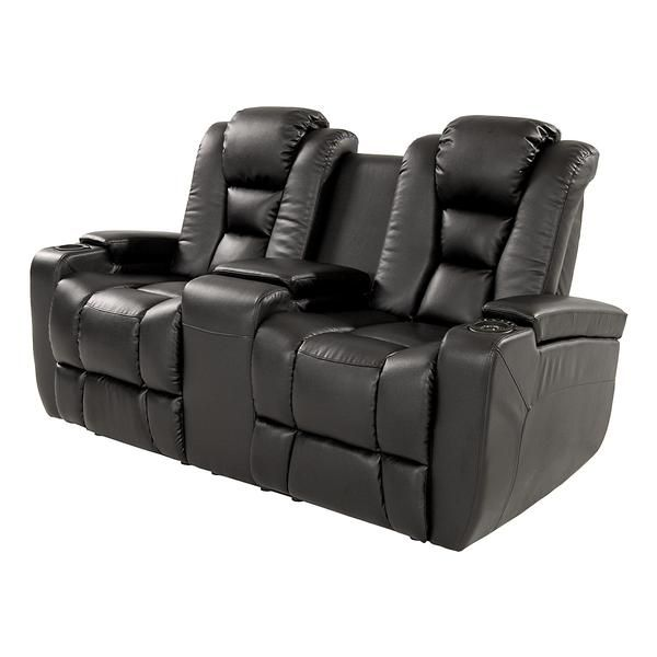 Supercar Duo Luxurycorp Rollsroyce: Transformer Black Power Motion Duo Recliner Love Seat