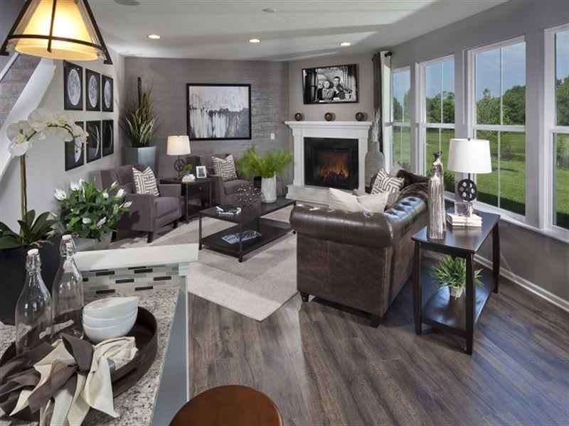 Living Room With A Corner Fireplace Living Room Stuff Pinterest Living Rooms Room And