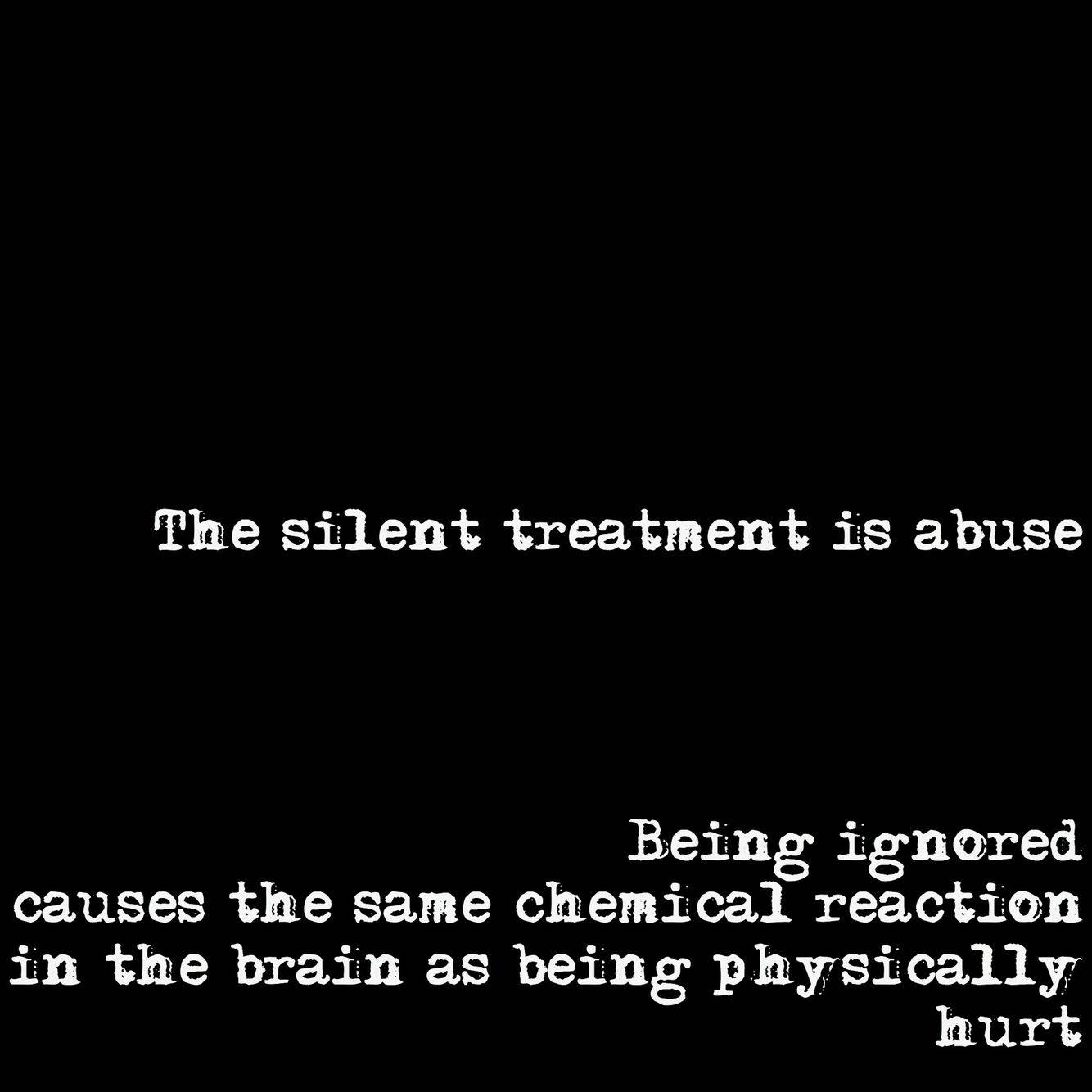 The Silent Treatment [Types of Emotional Child Abuse Series Part 1]