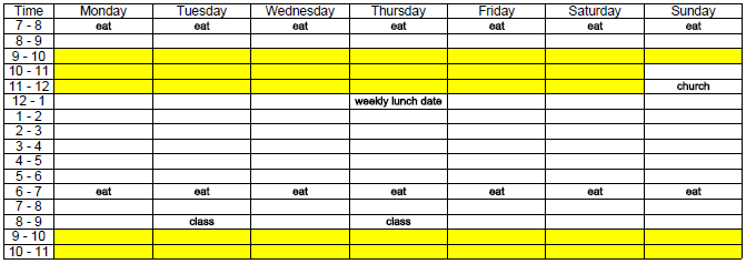 household cleaning schedule template - Google Search