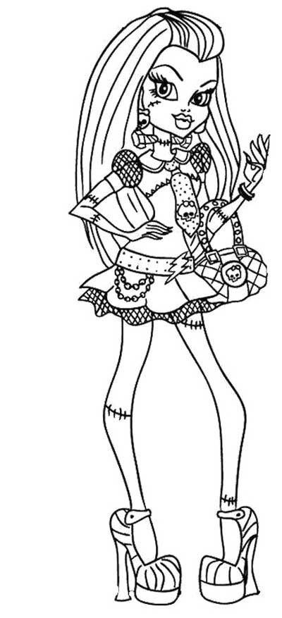 Frankie Stein Monster High Coloring Page Monster High Coloring Pages Cool Coloring Pages