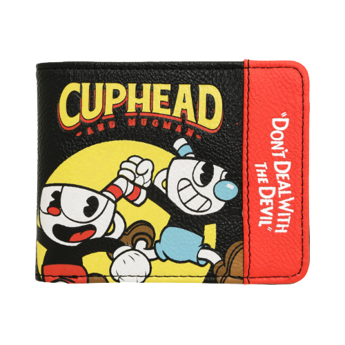 ff03b9b3adc Loungefly cuphead don t deal with the devil bi-fold wallet