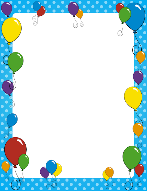 Balloon page border. Free downloads at http://pageborders.org ...