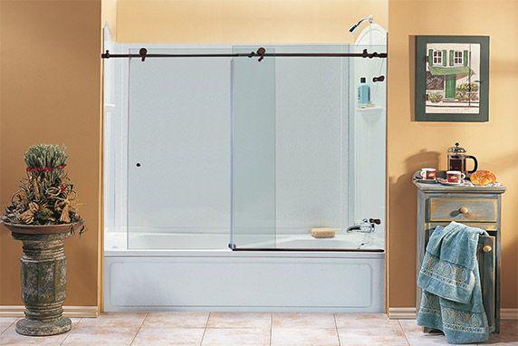 Sliding Glass Bathtub Doors Bathroom Re Do Pinterest Sliding