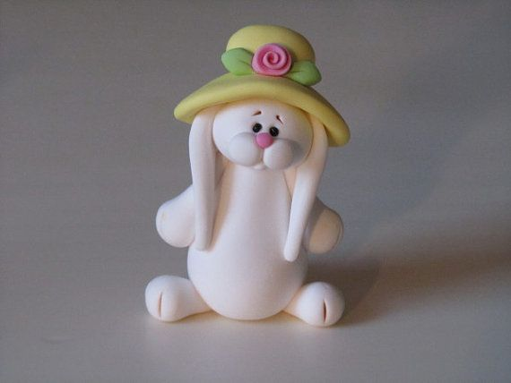 *POLYMER CLAY ~ Whimsical Polymer Clay Easter Bunny