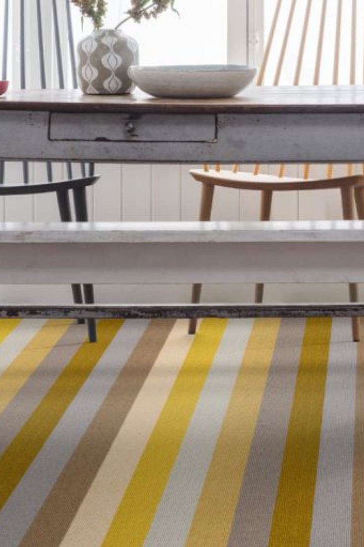 Margo Selby Stripe Sun Whitstable broad striped carpet
