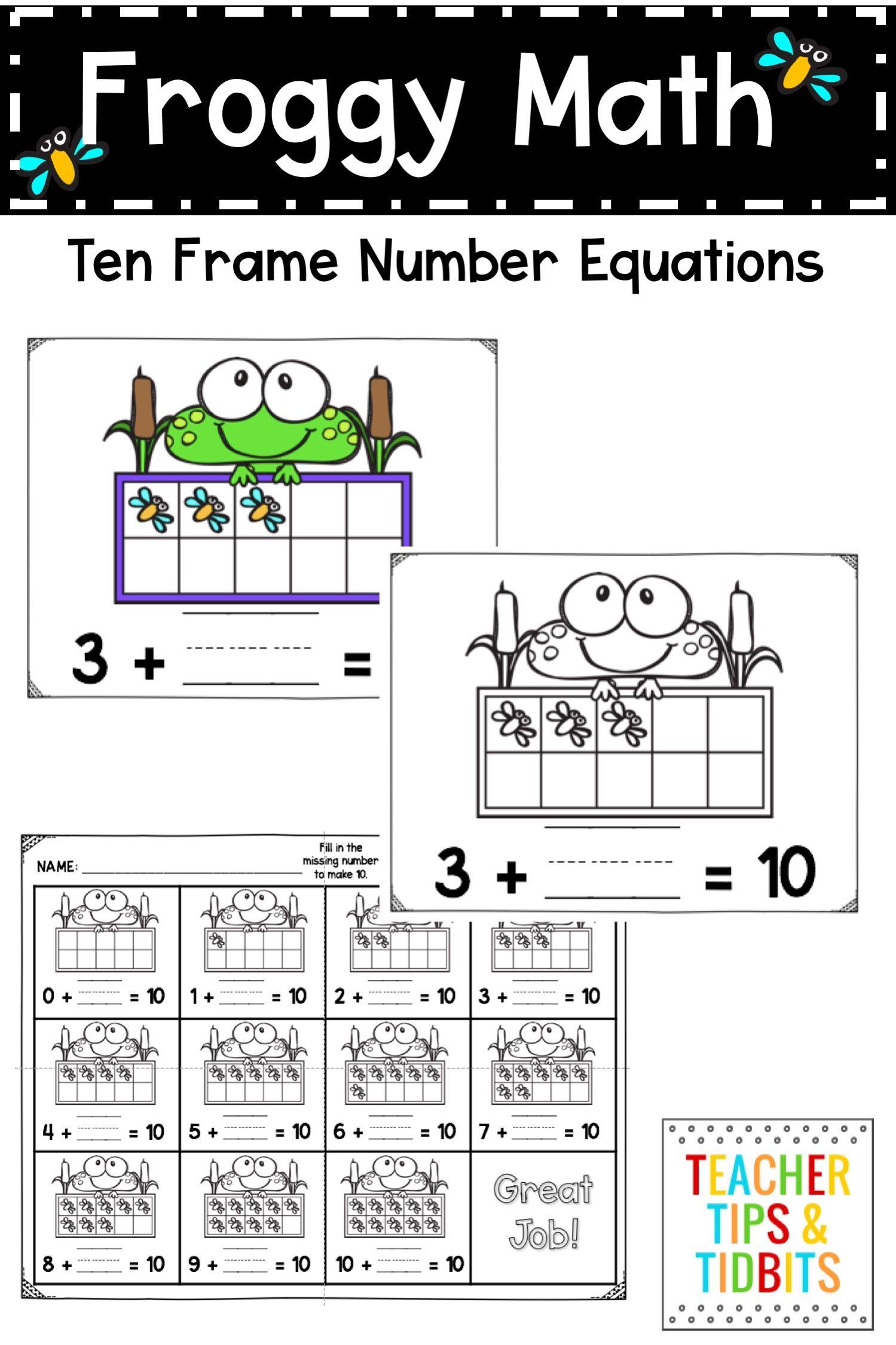 Frog Themed Ten Frame Activities