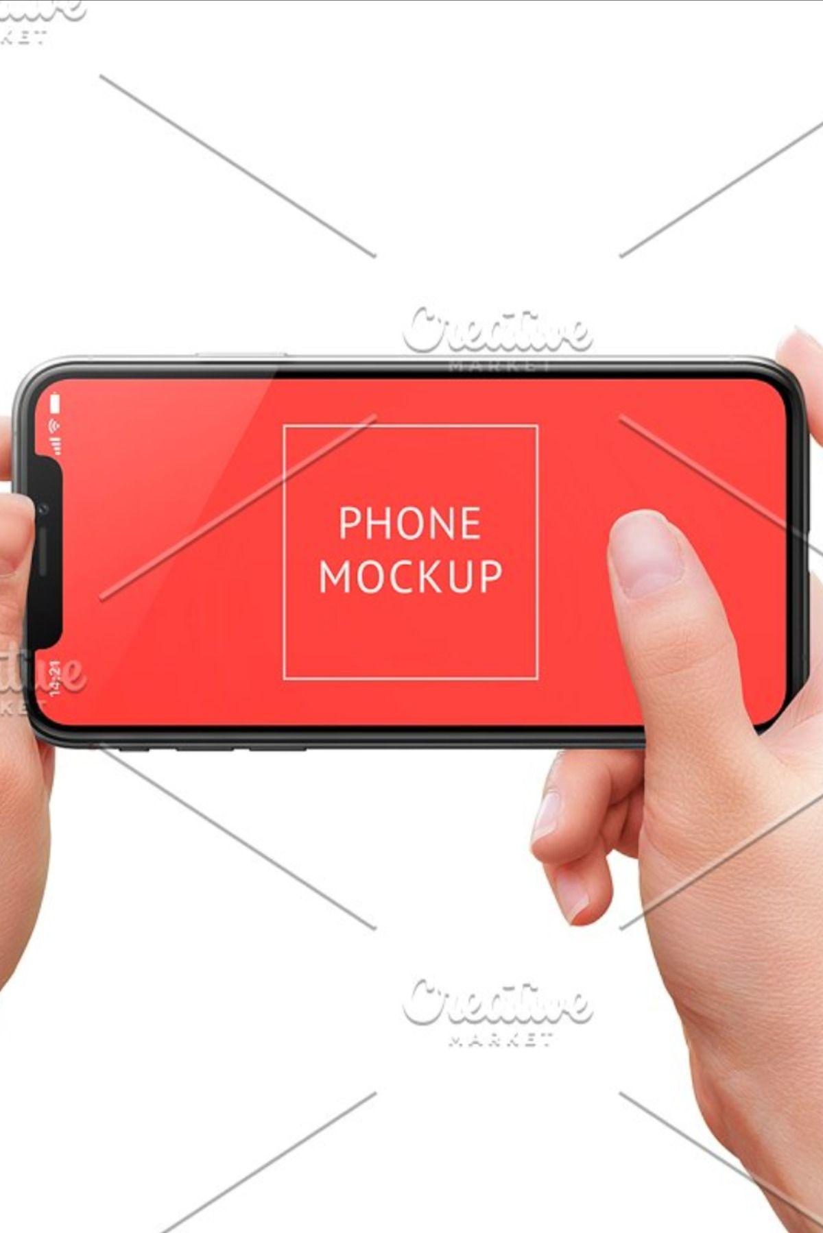 Iphone X Mockup In Woman Hands Iphone Mockup Templates Mockup