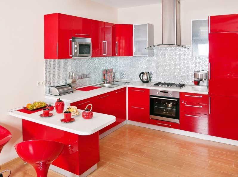 Intérieur Rouge Et Blanc | Idee Deco Cuisine, Admirable Deco