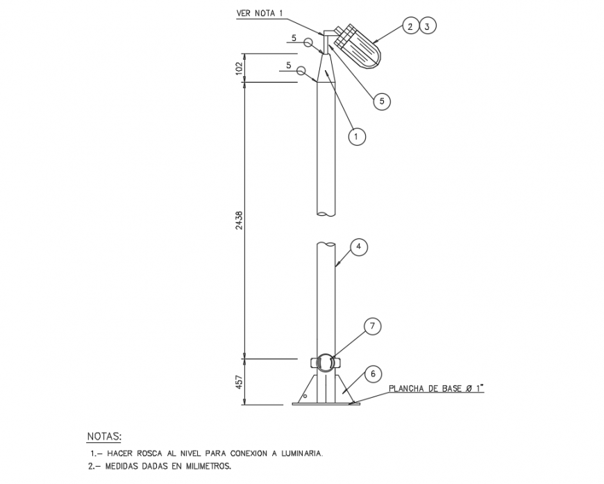 Local Area Lamp Post Typical Electricity Installation Details Dwg File Lamp Post Electrical Layout Installation