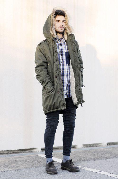Mens Parka Style Coats