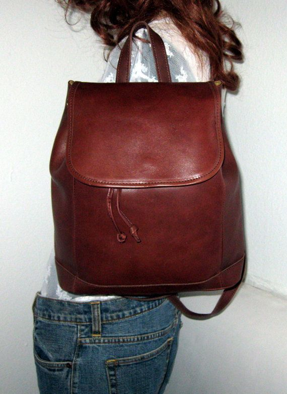 LL Bean Thick soft glove tanned leather backpack by BagsBabylon ...