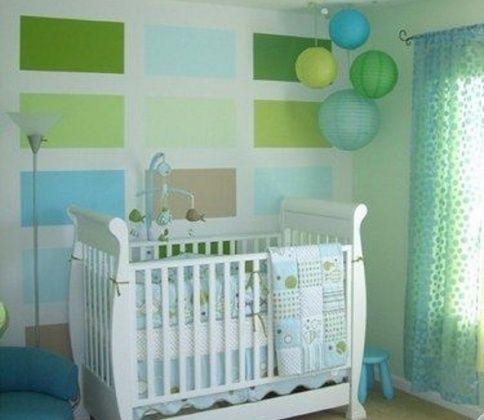 Chambre vert d\'eau | Chambre d\'enfants // Kid\'s room | Pinterest ...