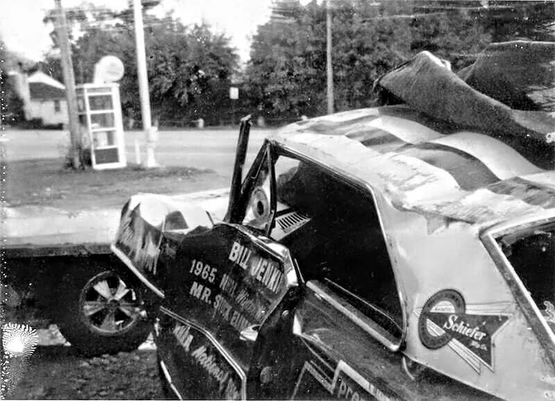Grumpy S Toy Bill Jenkins 1965 National Record Wrecked During Transport Drag Racing Cars Stock Car Racing Old Race Cars