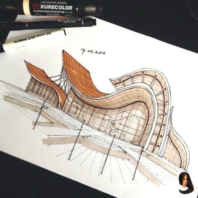 Ein Versuch, organische Architektur von @syahdaud zu entwerfen - Dress Models - Architecture  -