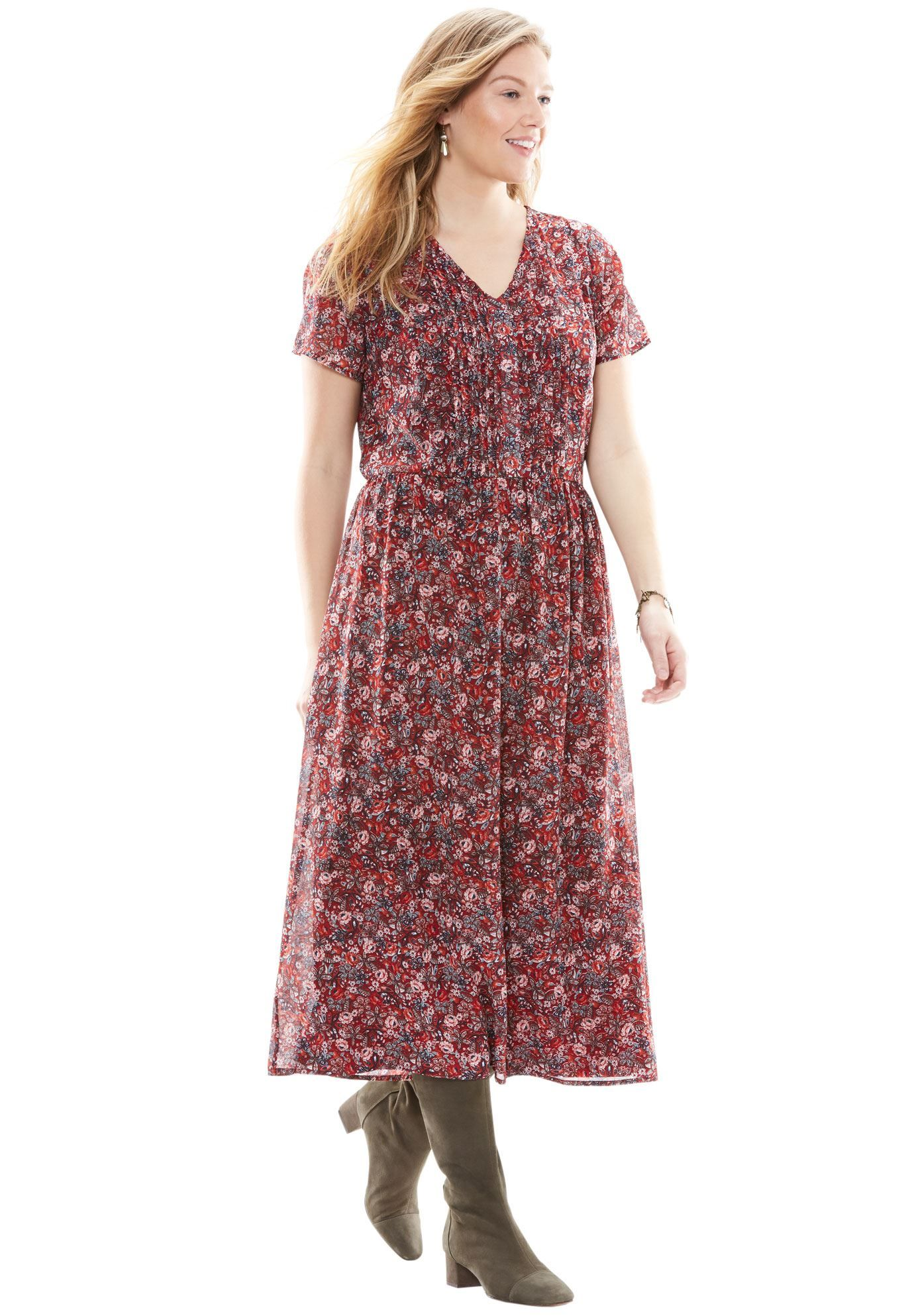 Long pintuck dress - Women\'s Plus Size Clothing | Products ...