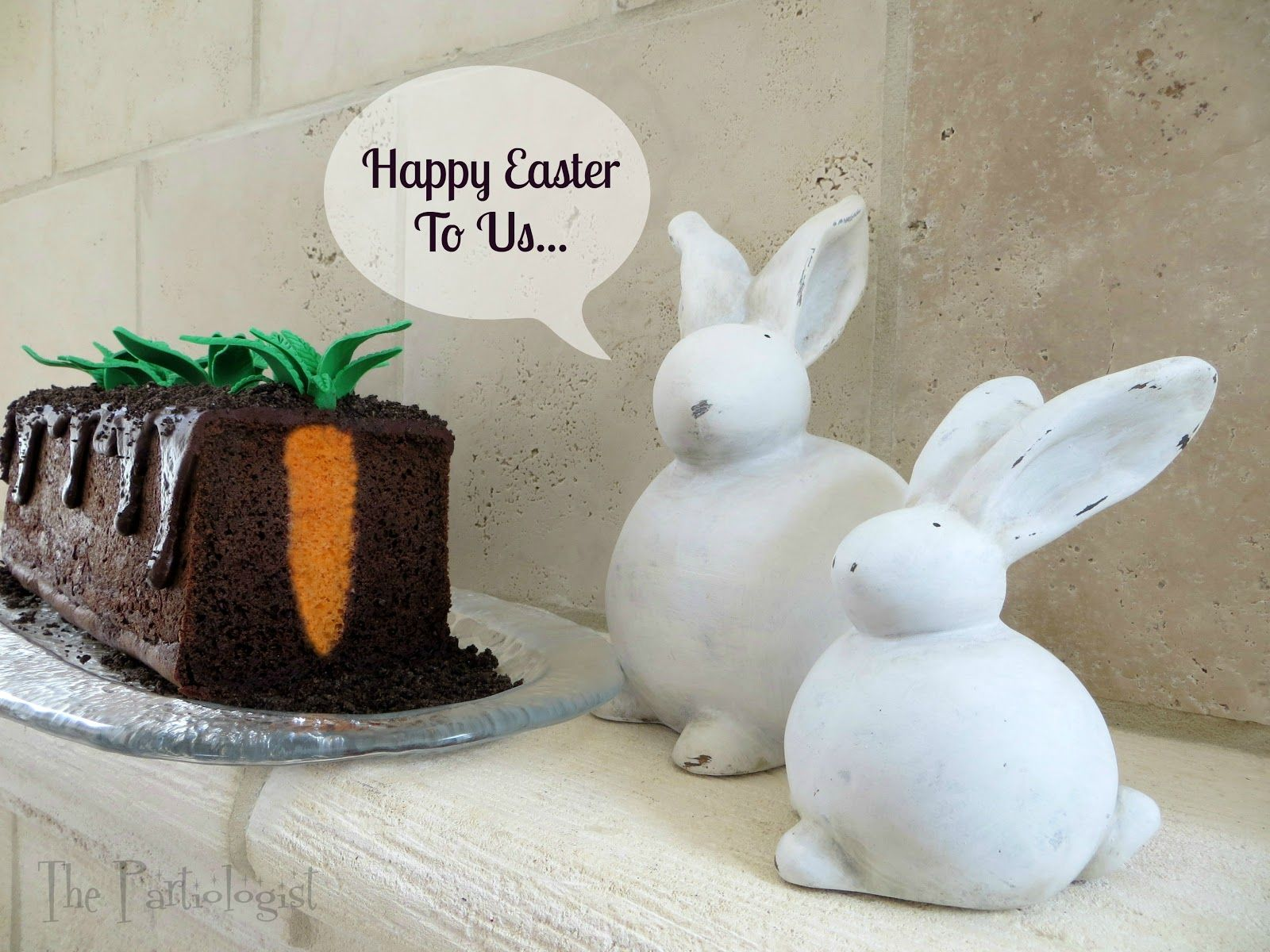 Carrot Patch cake so cute! #Easter