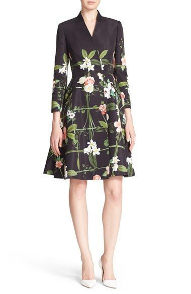 78cc40c5fef Ted Baker London  Giova  Floral Print Fit   Flare Coat