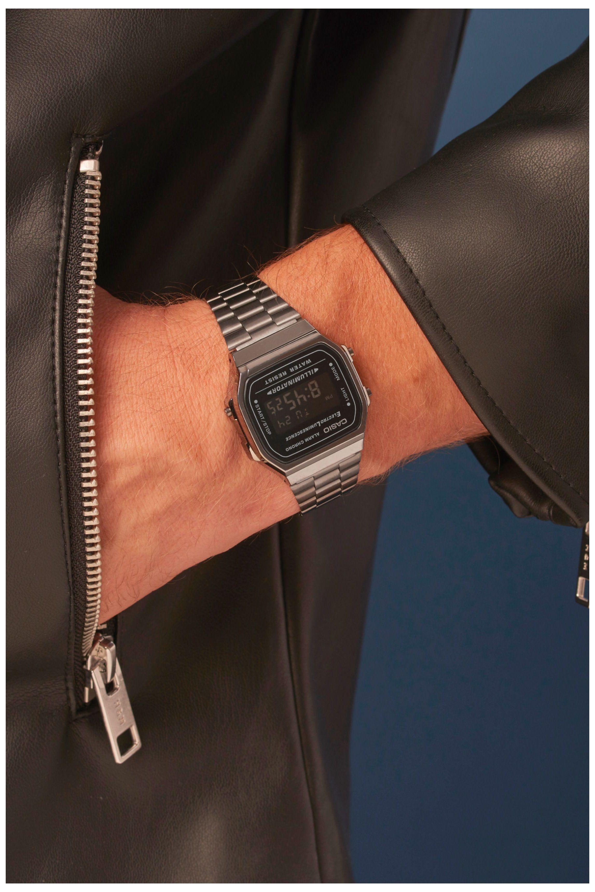 Casio Vintage A168wegg 1bef Casio Watch Retro Men Relógios Elegantes Relogios Acessórios