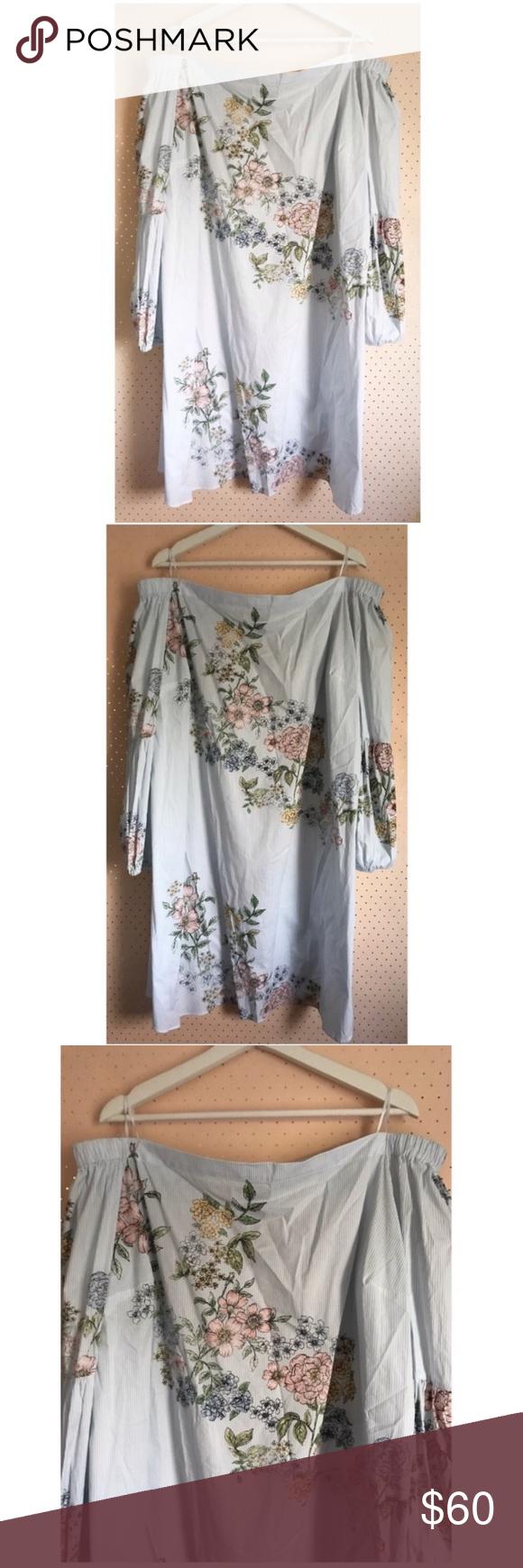Kaari Blue Off The Shoulder Pink Floral Dress Nwt Kaari Blue Off The Shoulder Floral Dress With Lantern Sleeves Brand Pink Floral Dress Floral Dress Dresses [ 1740 x 580 Pixel ]