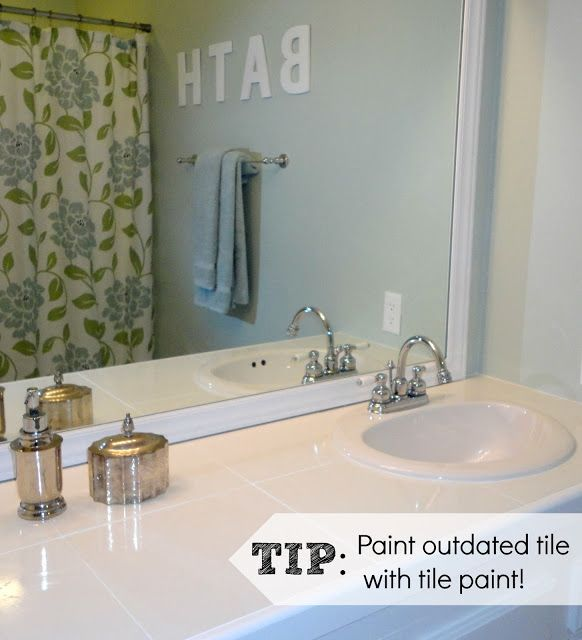 Updating bathroom tiles painting