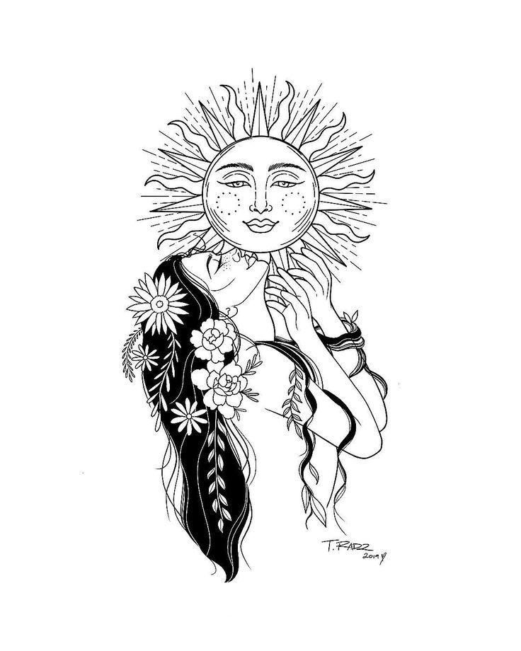 """ॐ T. R A D Z auf Instagram: """"Halte dein Gesicht immer der Sonne zugewandt -...   - dibujo - #auf #dein #der #dibujo #Gesicht #Halte #immer #Instagram #Sonne #zugewandt #ॐ #tattoodrawings"""