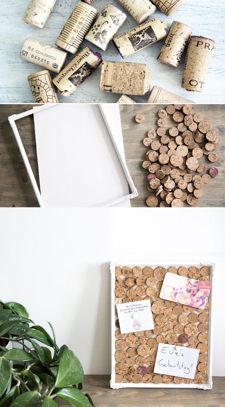 DIY Upcycling Idea Pinboard Cork | Do it yourself | Decoration | Facility | H... -