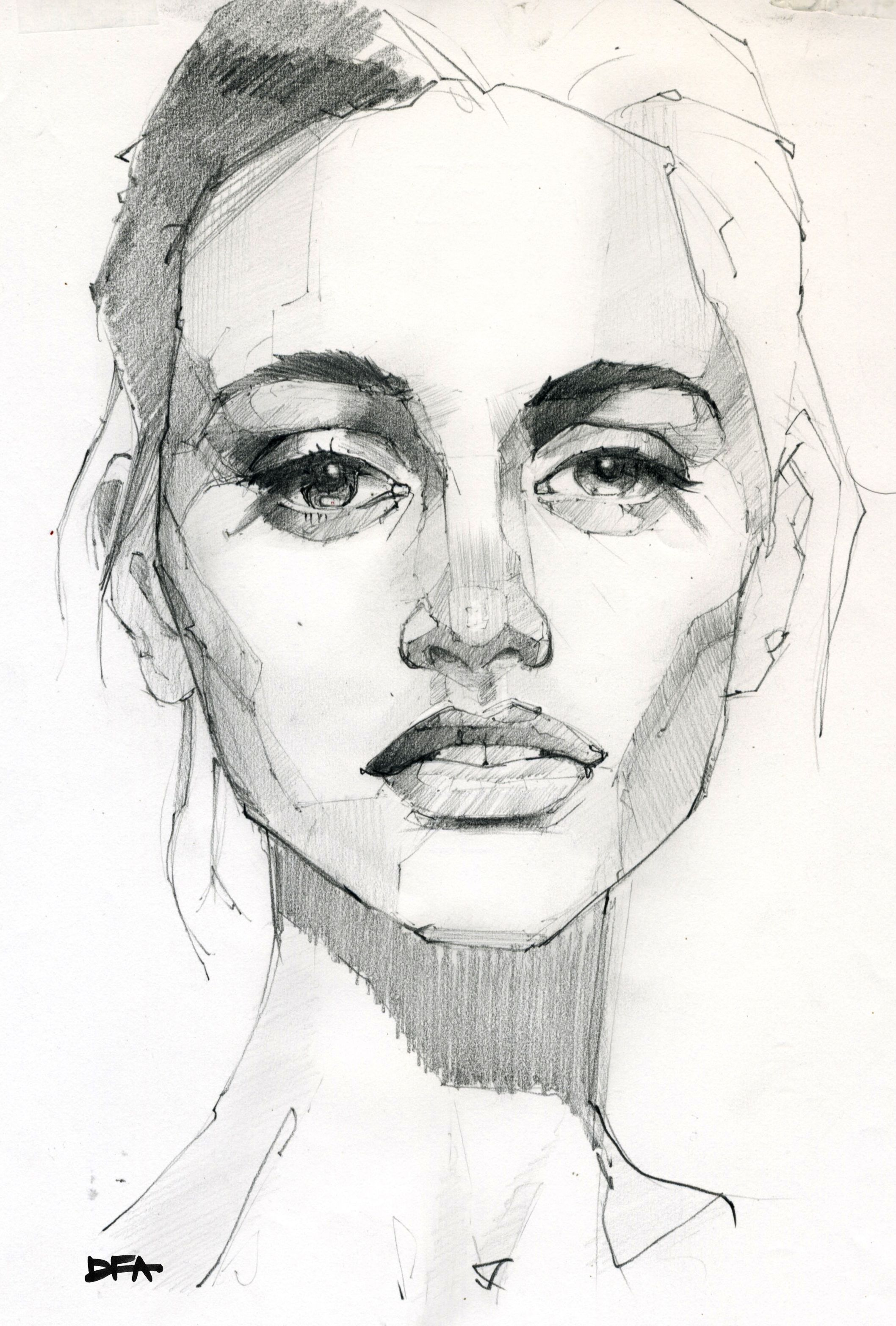 Graphite portrait drawing of beautiful woman pencil art pencil sketching pencil drawings art