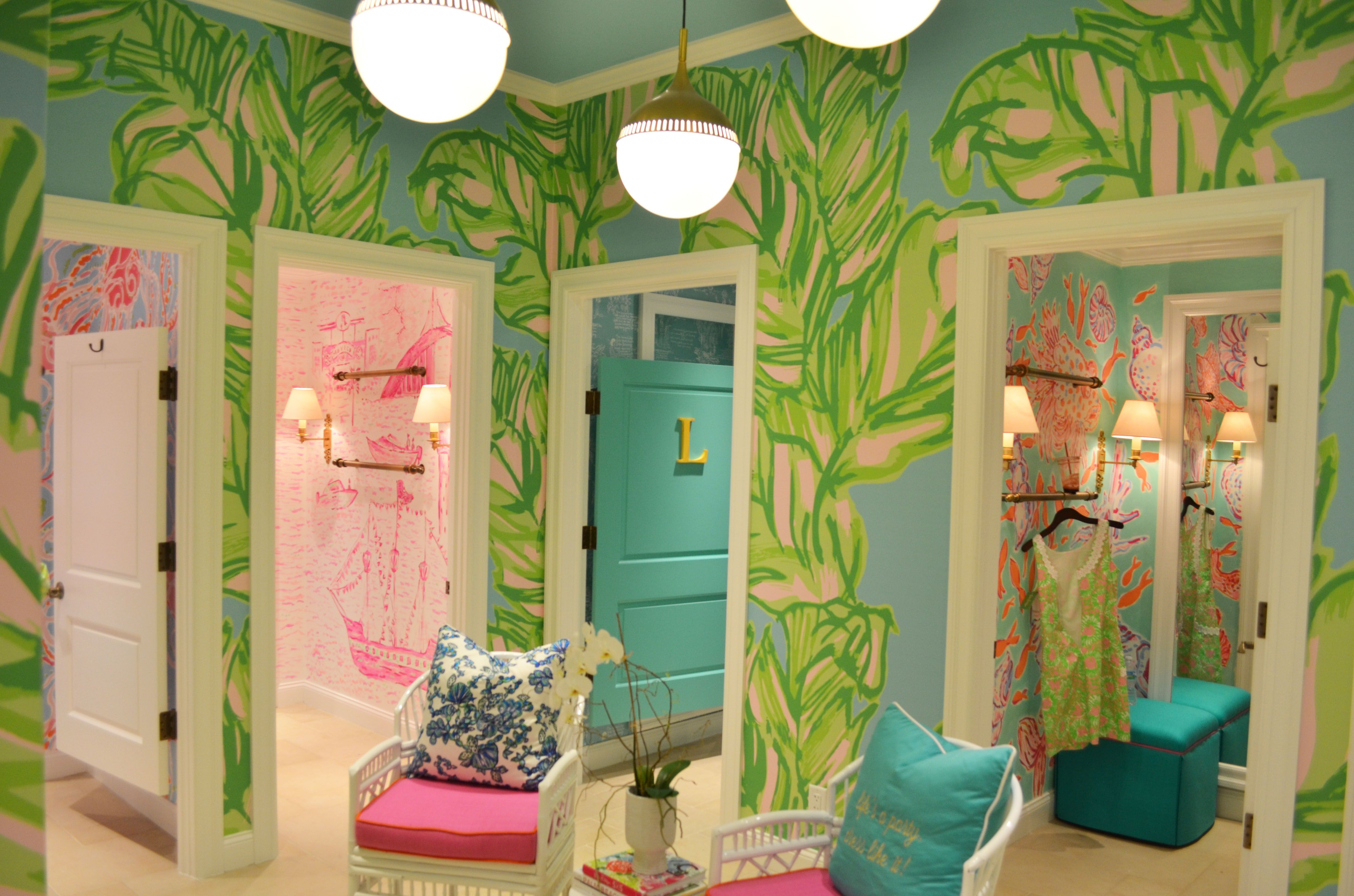 Lilly Pulitzer Tampa Dress Rooms that fantastic wallpaper