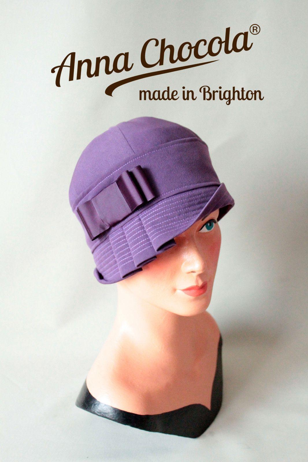 1920s 30s FLAPPER CLOCHE period HAT Purple Original Anna Chocola ® Brighton M | eBay